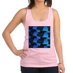 Blue Sea Snake Pattern S Racerback Tank Top