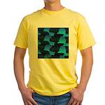 Blue Sea Snake Pattern S T-Shirt