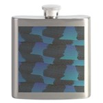 Blue Sea Snake Pattern S Flask