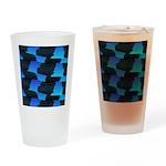 Blue Sea Snake Pattern S Drinking Glass