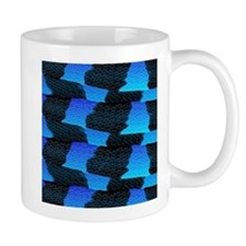 Blue Sea Snake Pattern S Mugs