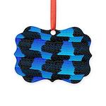 Blue Sea Snake Pattern S Ornament