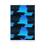 Blue Sea Snake Pattern S Posters