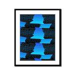 Blue Sea Snake Pattern S Framed Panel Print