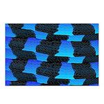 Blue Sea Snake Pattern S Postcards (Package of 8)