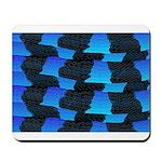 Blue Sea Snake Pattern S Mousepad