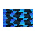Blue Sea Snake Pattern S Wall Decal
