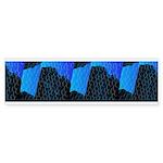 Blue Sea Snake Pattern S Bumper Sticker