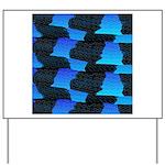 Blue Sea Snake Pattern S Yard Sign