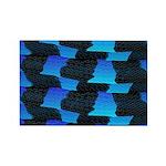 Blue Sea Snake Pattern S Magnets