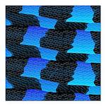 Blue Sea Snake Pattern S Square Car Magnet 3