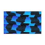 Blue Sea Snake Pattern S Rectangle Car Magnet