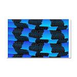 Blue Sea Snake Pattern S Car Magnet 20 x 12
