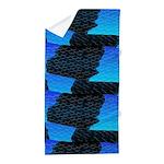Blue Sea Snake Pattern S Beach Towel