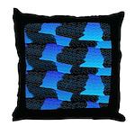Blue Sea Snake Pattern S Throw Pillow