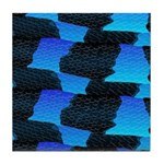 Blue Sea Snake Pattern S Tile Coaster