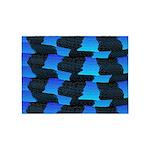 Blue Sea Snake Pattern S 5'x7'Area Rug