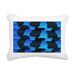 Blue Sea Snake Pattern S Rectangular Canvas Pillow