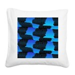 Blue Sea Snake Pattern S Square Canvas Pillow