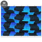 Blue Sea Snake Pattern S Puzzle