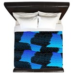 Blue Sea Snake Pattern S King Duvet