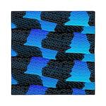 Blue Sea Snake Pattern S Queen Duvet