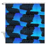 Blue Sea Snake Pattern S Shower Curtain
