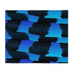 Blue Sea Snake Pattern S Throw Blanket