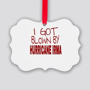 I GOT BLOWN BY HURRICANE IRMA Picture Ornament