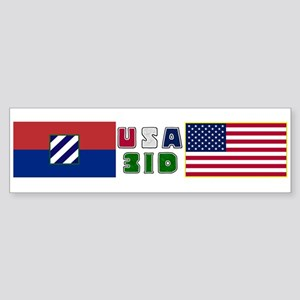USA-3ID Bumper Sticker
