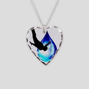 Sky Drop Necklace Heart Charm