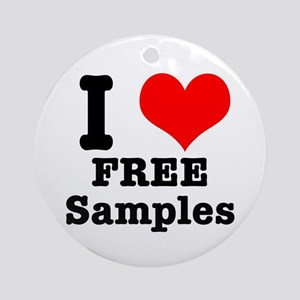 I Heart (Love) Free Samples Ornament (Round)