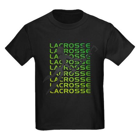 Abstract Lacrosse Kids Dark T-Shirt