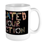 Medicated for your Protection Black Large Mug