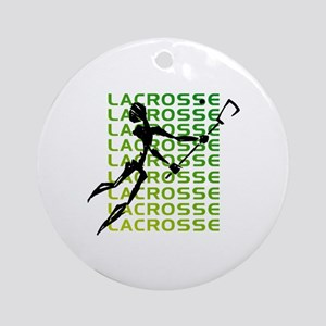 Abstract Lacrosse Ornament (Round)