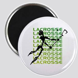 Abstract Lacrosse Magnet