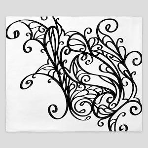 Black Swirly Lace King Duvet