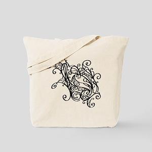 Black Swirly Lace Tote Bag