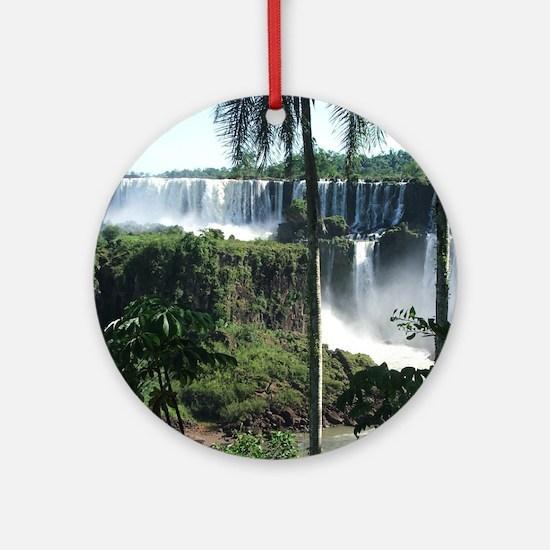 Iguazu falls 2 Round Ornament
