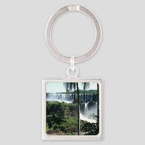 Iguazu falls 2 Square Keychain