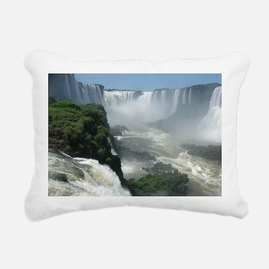Iguazu falls 3 Rectangular Canvas Pillow