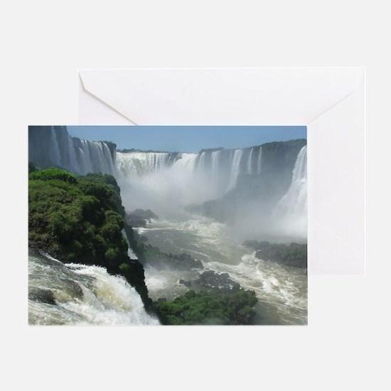 Iguazu falls 3 Greeting Card
