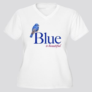 blue is beautiful Women's Plus Size V-Neck T-Shirt