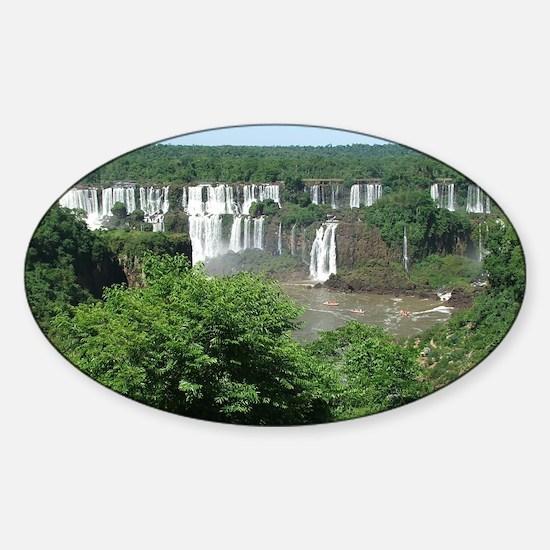 Iguazu falls 4 Sticker (Oval)