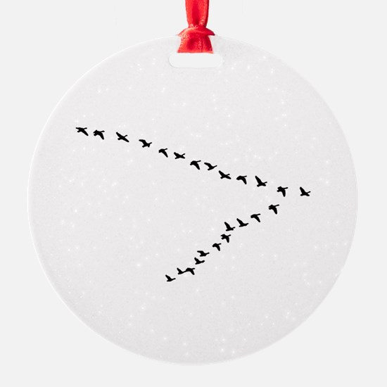Geese Flying - V Formation Ornament