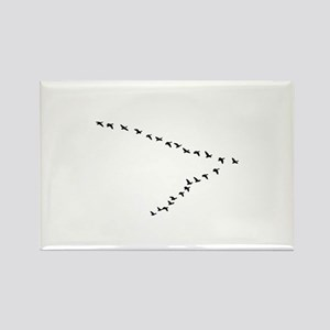Geese Flying - V Formation Magnets