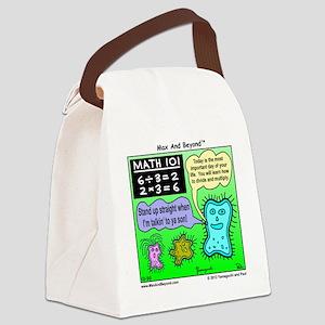 Amoeba Math Cartoon Canvas Lunch Bag