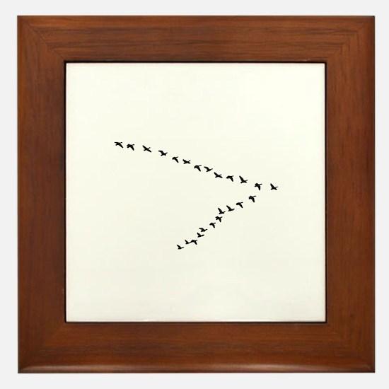 Geese Flying - V Formation Framed Tile
