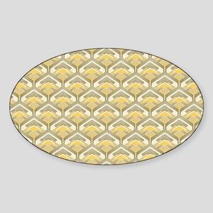 Retro Yellow Sticker (Oval)
