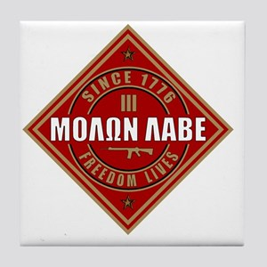 Come and Take It (Red and Gold Diamon Tile Coaster